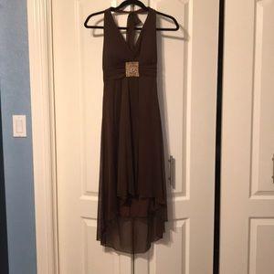 Dresses & Skirts - Brown High-low Halter